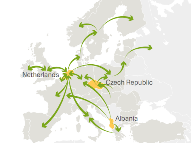 these maps show how cocaine cannabis and heroin travel around europe